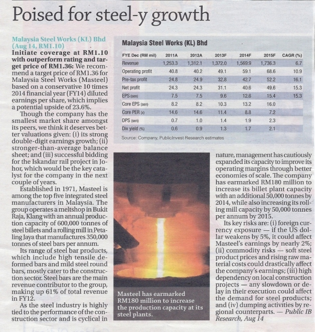 Poised for steel-y growth